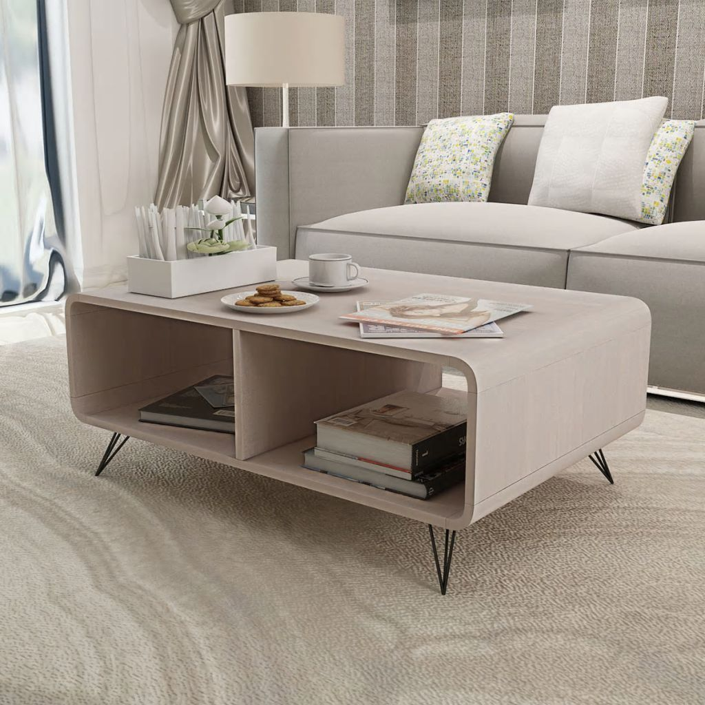 Table Basse 90x55 5x38 5 Cm Bois Gris Living Room Tv Stand