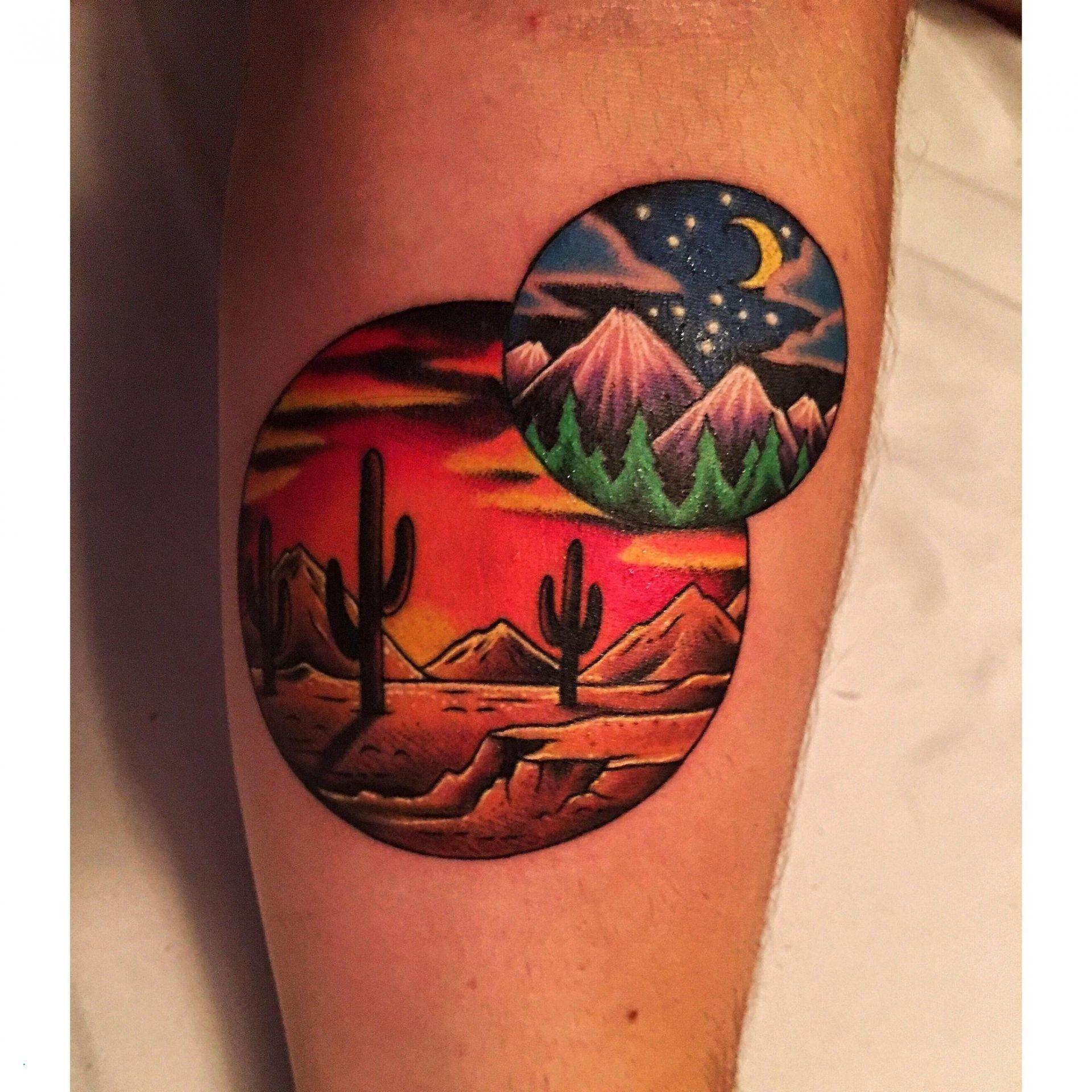 Kalinda Cano Tatuajes cactus desert tattoo beautiful tattoo cactus desert mountain arm
