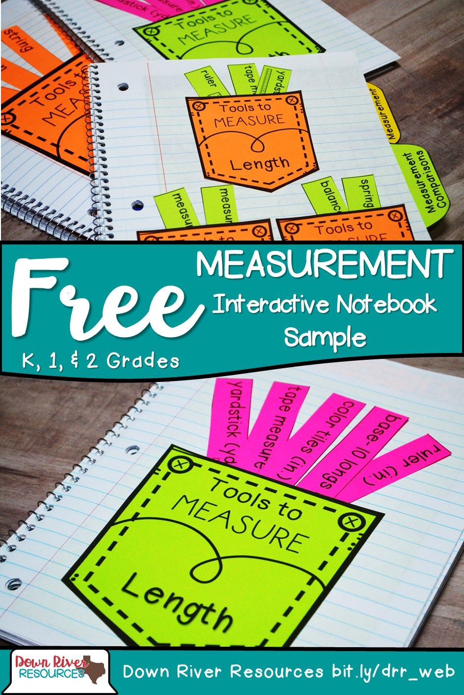 Kindergarten, First & Second Grade Math Interactive Notebook ...