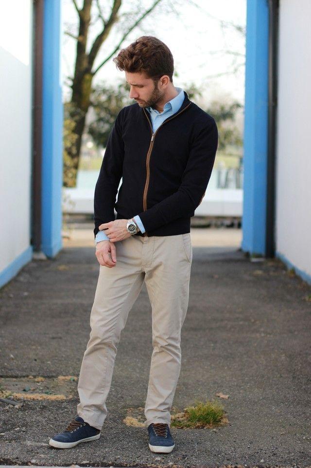 Resultado De Imagen Para Pantalon Beige Hombre Look Pantalon Beige Hombre Pantalones Beige Look De Hombre