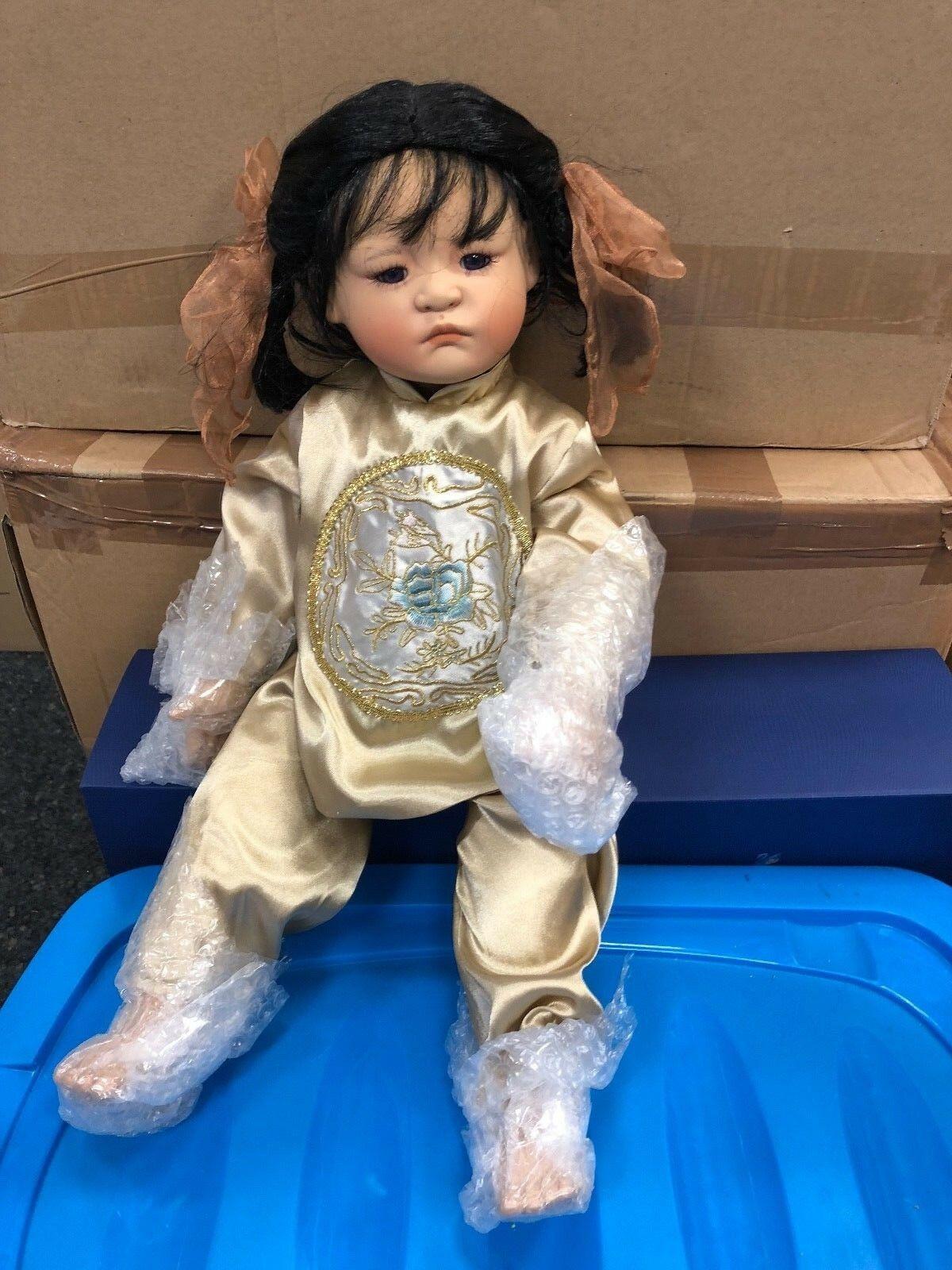 Künstlerpuppe Porzellan Puppe 50 Cm Art Dolls-ooak Top Zustand.