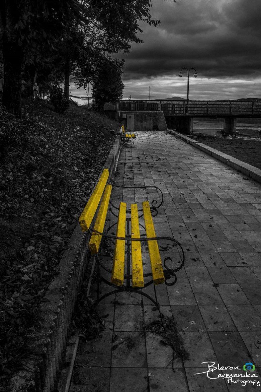 Photograph black white yellow by bleron chermenika on 500px
