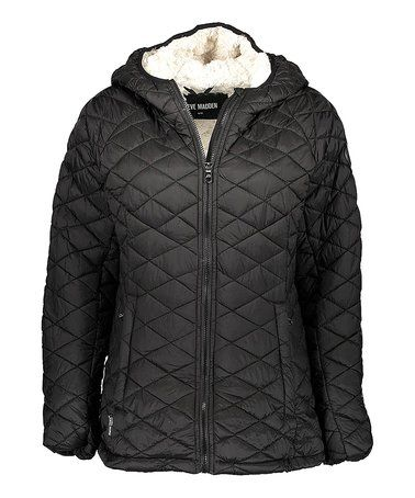 0b3e91019e46 Look what I found on  zulily! Black Glacier Shield Puffer Jacket ...