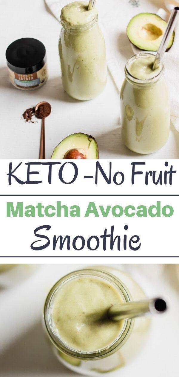 Matcha Avocado Smoothie (No Fruit) | Abra's Kitchen