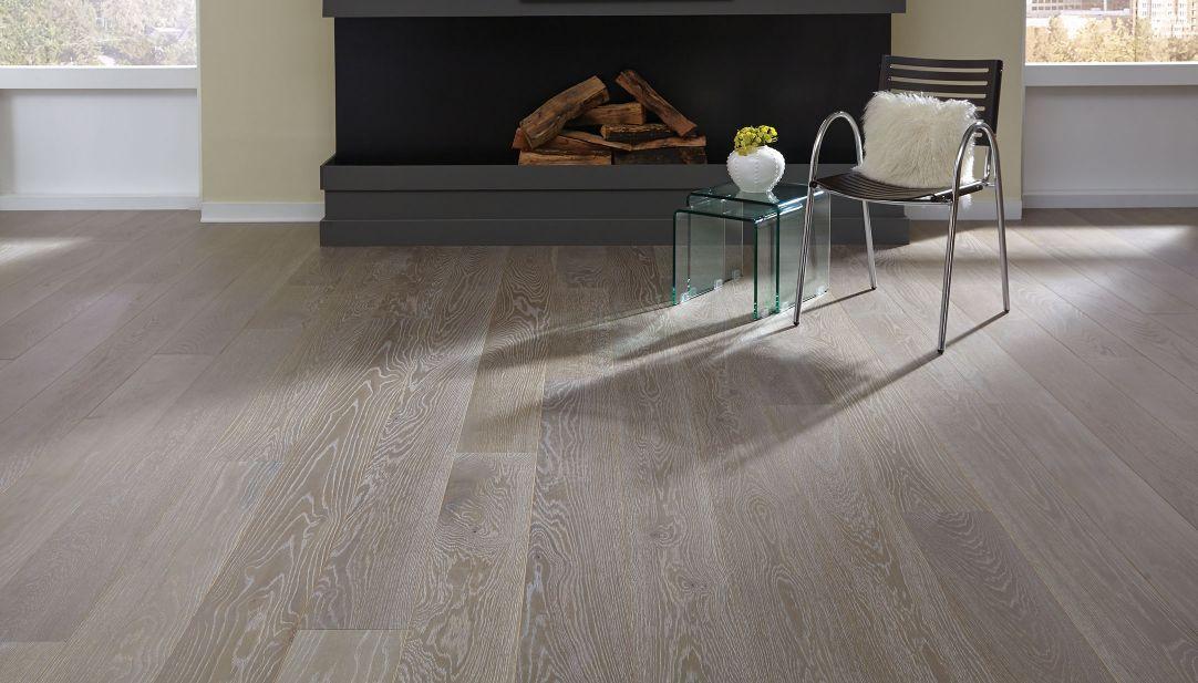 Gray wide plank matte finish oil rubbed hardwood wood flooring