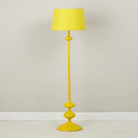 Checkmate Floor Lamp Base (Yellow) | The Land of Nod (yellow w ...