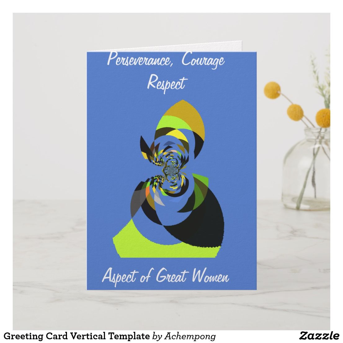 Greeting Card Vertical Template Zazzle Com Cards Greetings