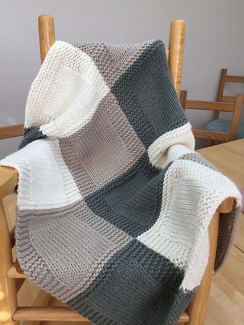 3 Color Patchwork Blanket pattern by Michelle Kupfer