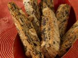Peanut Butter and Chocolate Biscotti.  One of my go-to holiday cookie recipes.  A-mazing.
