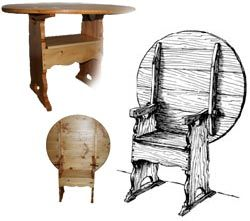 Colonial Chair Table Plans Woodworking Plans And Patterns By Woodcraftplans Com Colonial Chair Woodworking Projects Woodworking