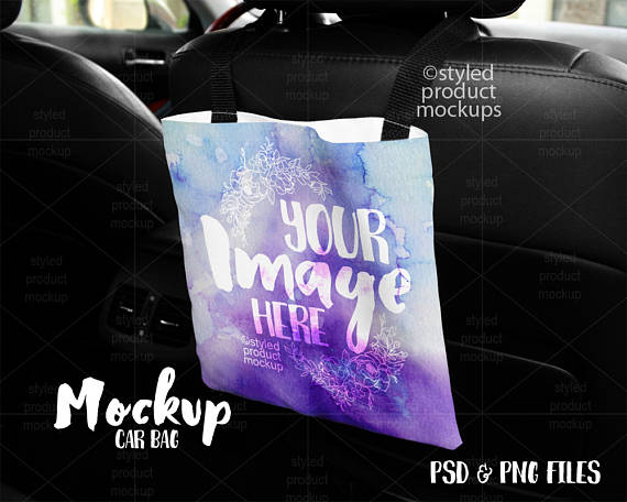 Download Car Back Seat Bag Template Mockup Add Your Own Image Etsy Free Psd Mockups Templates Free Packaging Mockup Mockup Free Psd