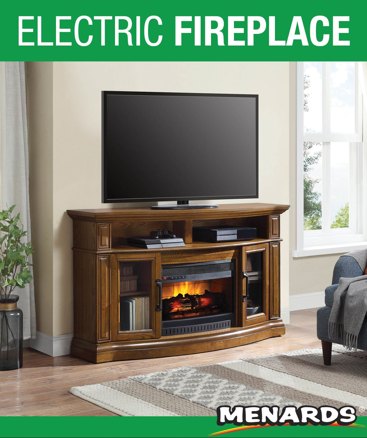 The Middleton Electric Fireplace From Whalen Is Offered In Two