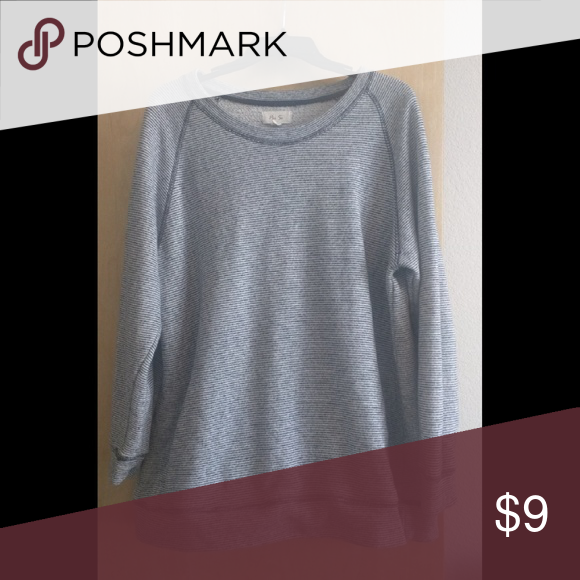 Sweater/sweatshirt Comfy sweater.  Navy almost black and white striped Sweaters Crew & Scoop Necks