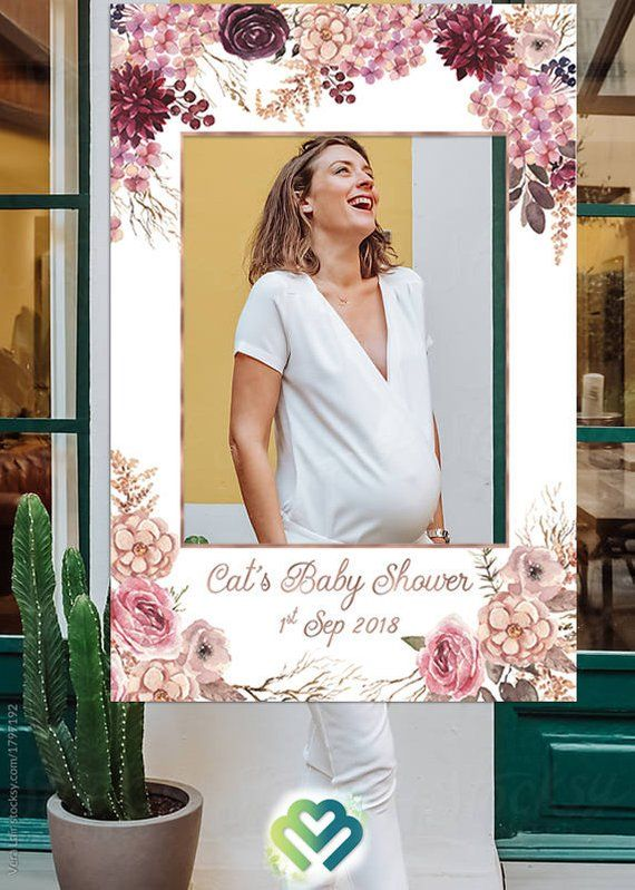 Floral Baby Shower Photo Booth Frame Props Birthday Decoration