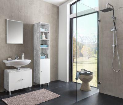 Bad Simply Set 8 best aus Waschbecken Unterschrank 2-trg - badezimmer waschbecken mit unterschrank