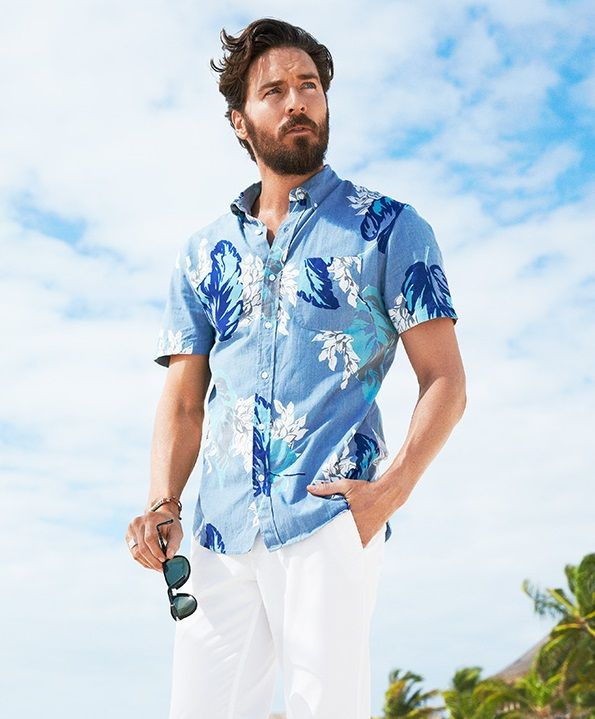 824d5485a921 Look cool and stay cool this summer in Bonobos floral and print short  sleeve shirts.