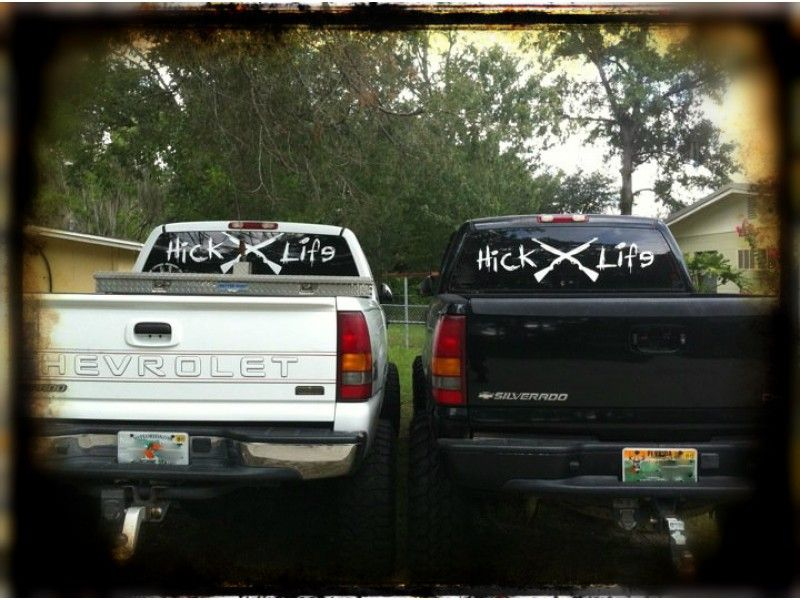 Hick Life Gun Decal HickLifecom Lifted Trucks Pinterest - Chevy decals for trucks