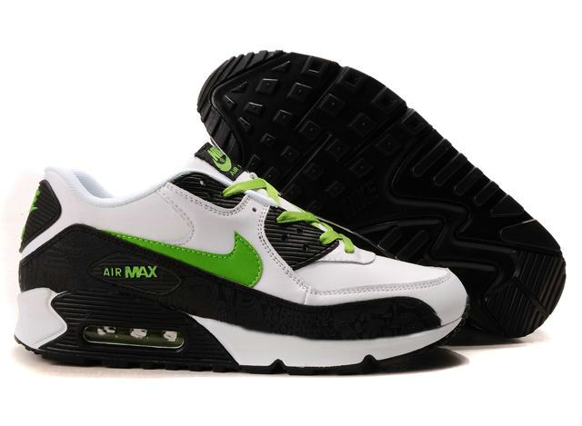 size 40 82f03 08b36 Nike Air Max 90 Herren Schuhe Grün Schwarz Weiß