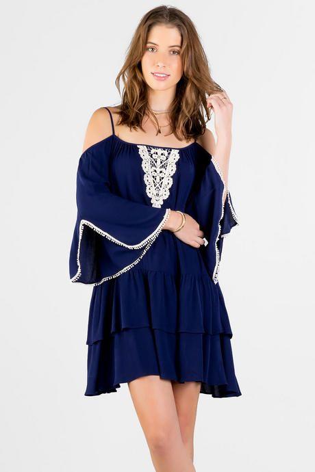Chrystina Cold Shoulder Dress