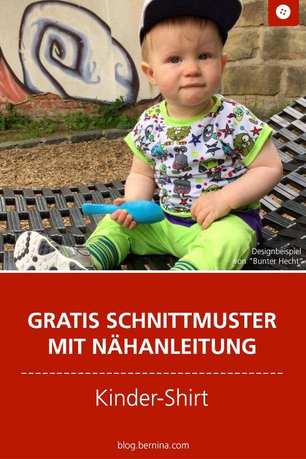 Photo of Nähanleitung mit Schnittmuster für ein Basic-Kindershirt
