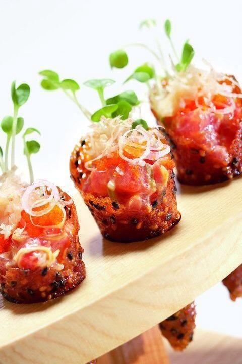 Ahi Tuna Cones | Pinterest Pairings: Cupcake Vineyards Chardonnay ...