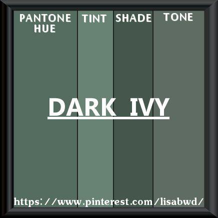 Pantone Seasonal Color Swatch Dark Ivy Shades Of Green Colors