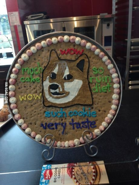 Looks like we've hit the tipping point - found at Mrs. Fields cookie shop