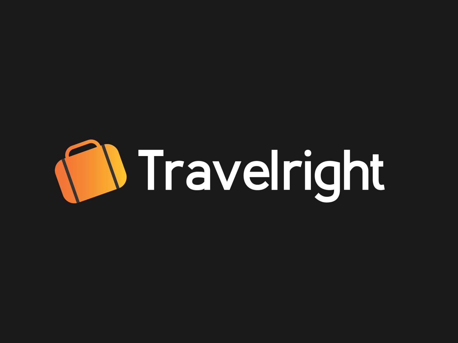Travelright logo design by Eeshan Tiwari