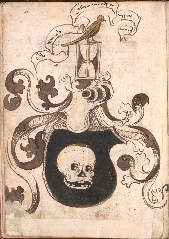 Wernigeroder (Schaffhausensches) Wappenbuch Süddeutschland, 4. Viertel 15. Jh. Cod.icon. 308 n  Folio 3v