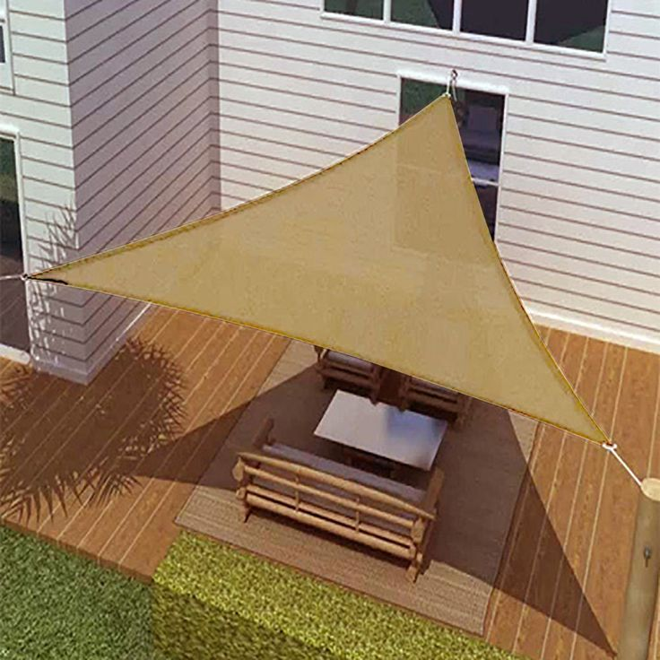 New ProSource Sand Color Oversized Sun Shade Sail Canopy Shelter