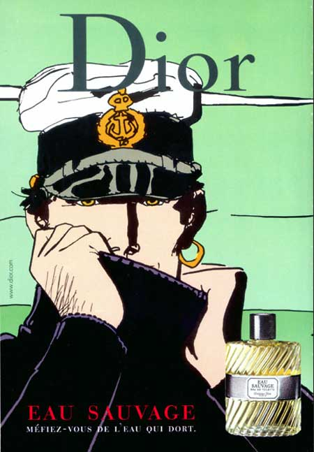 Corto Maltese Used As Sales Promotion For A Man S Cologne Dior W B Cartoon Posters Comic Art Comic Illustration