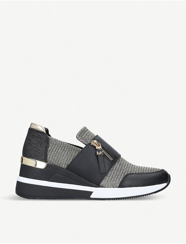 Chelsie metallic-knit sneakers