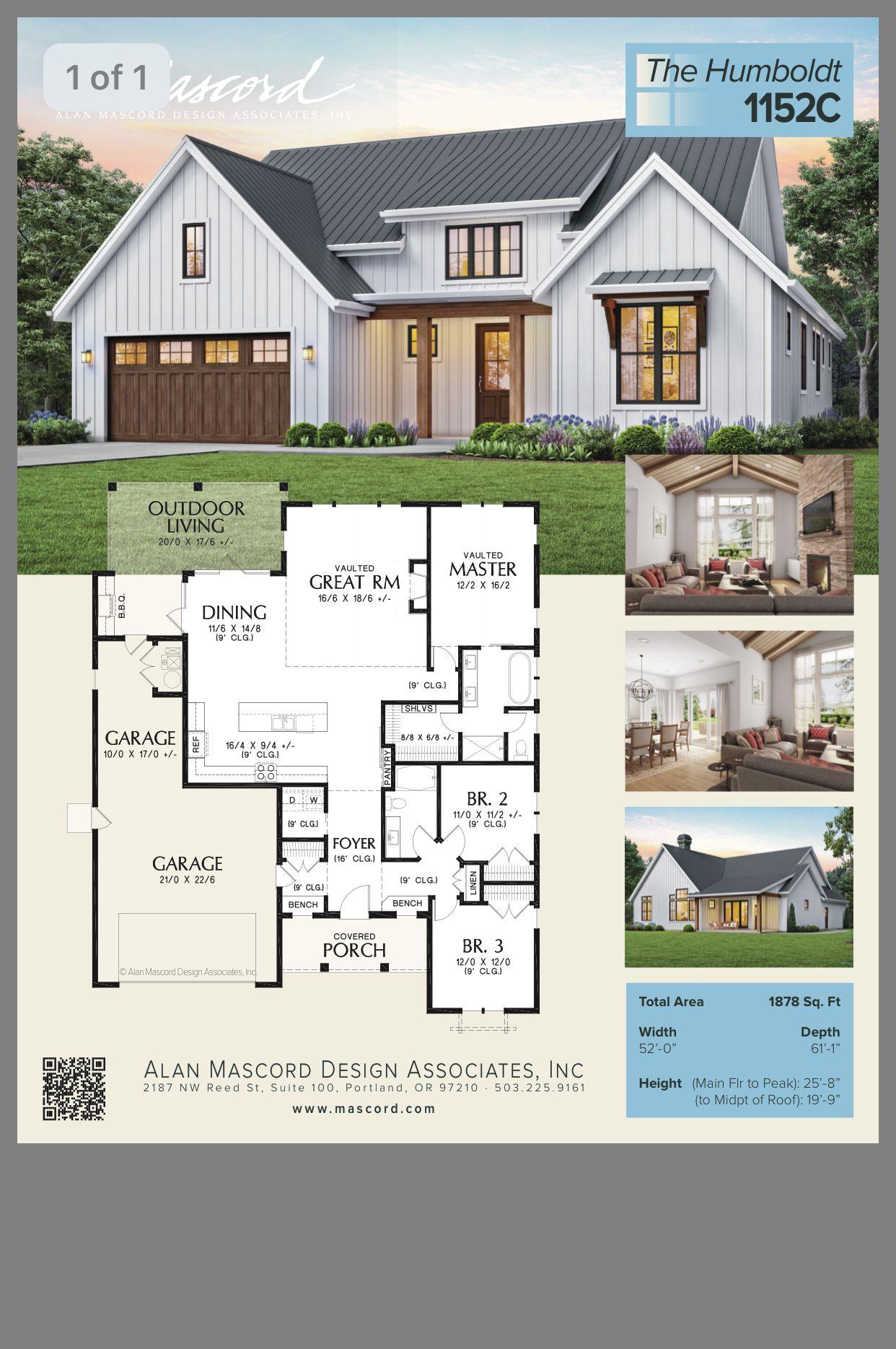 Pin By J On Houses House Plans Modern Farmhouse Design Building A House