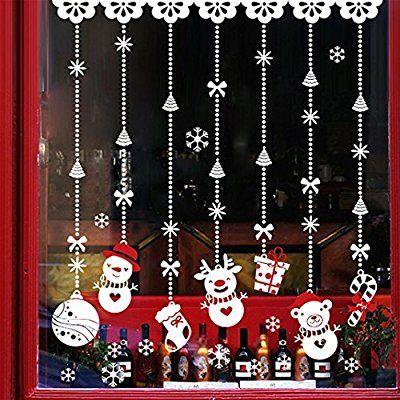Eenkula NoëL Boule De Neige Stickers Muraux Amovibles Mur De