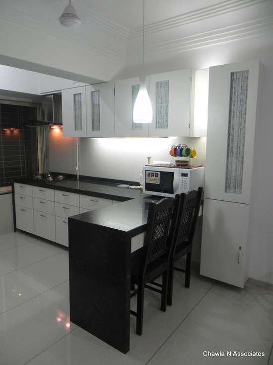 white and brown modular kitchen india   MAGHIツ ♥DECOR ...
