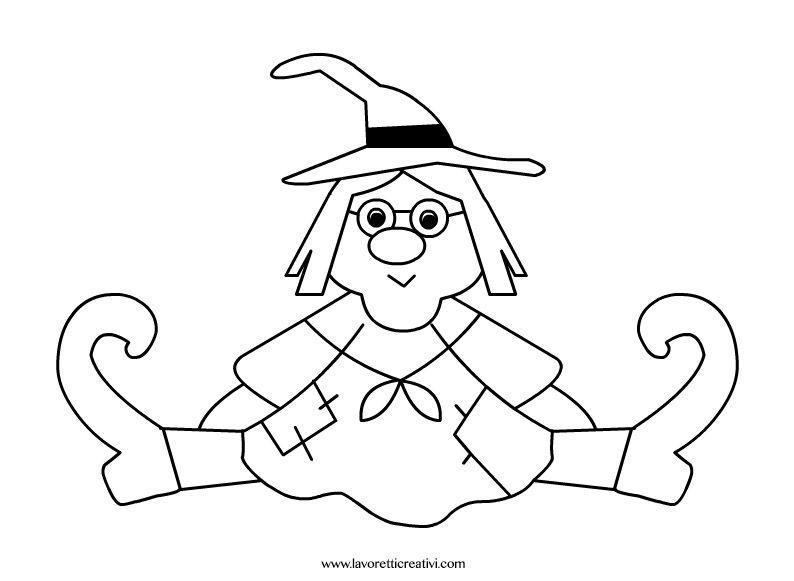 Disegno befana crafts halloween manualidades for Befana disegno