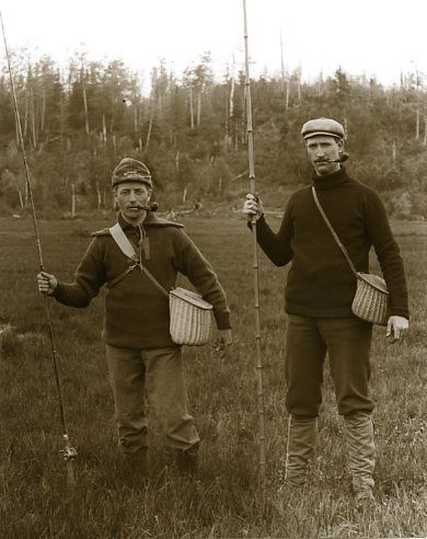 Antique Fishing Clothing Hats Creels Pipes Bamboo Rod Fishing Outfits Antique Fishing Fly Fishing Tackle