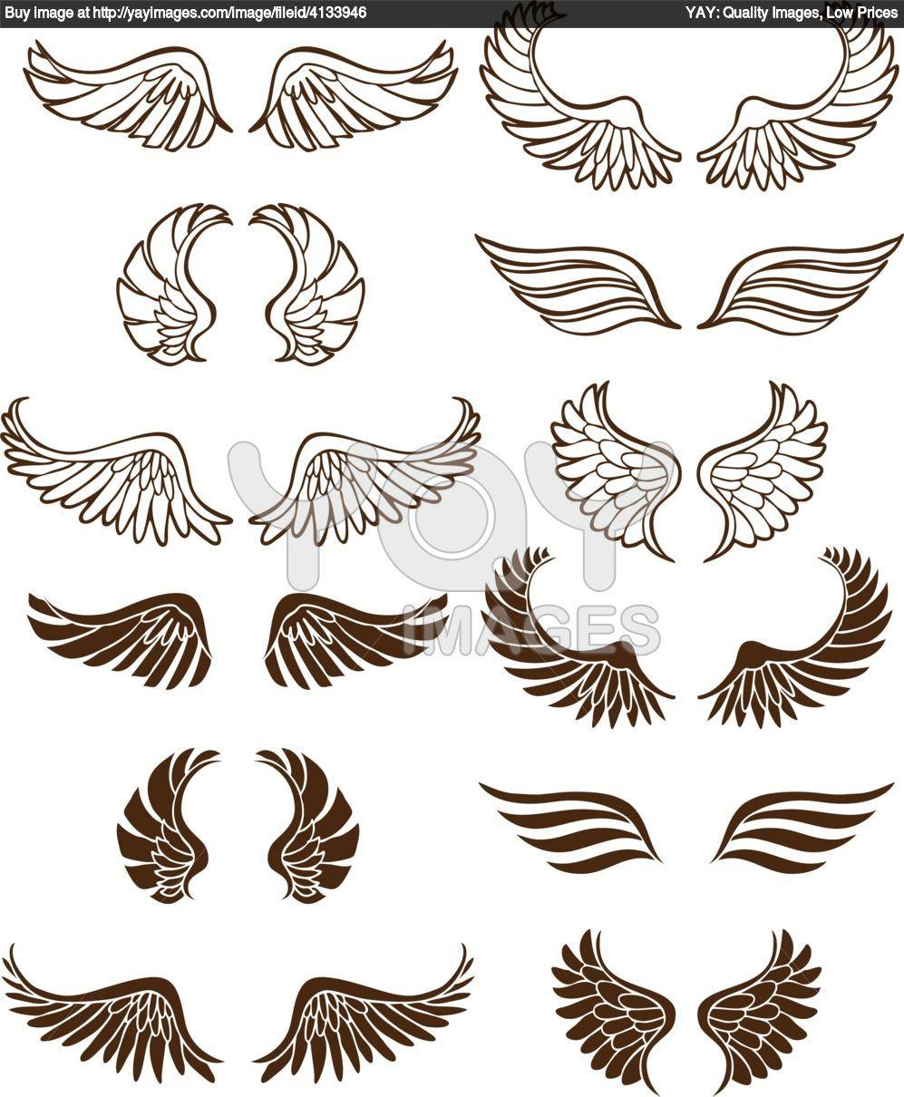 royalty free vector of angel wings wings pinterest. Black Bedroom Furniture Sets. Home Design Ideas