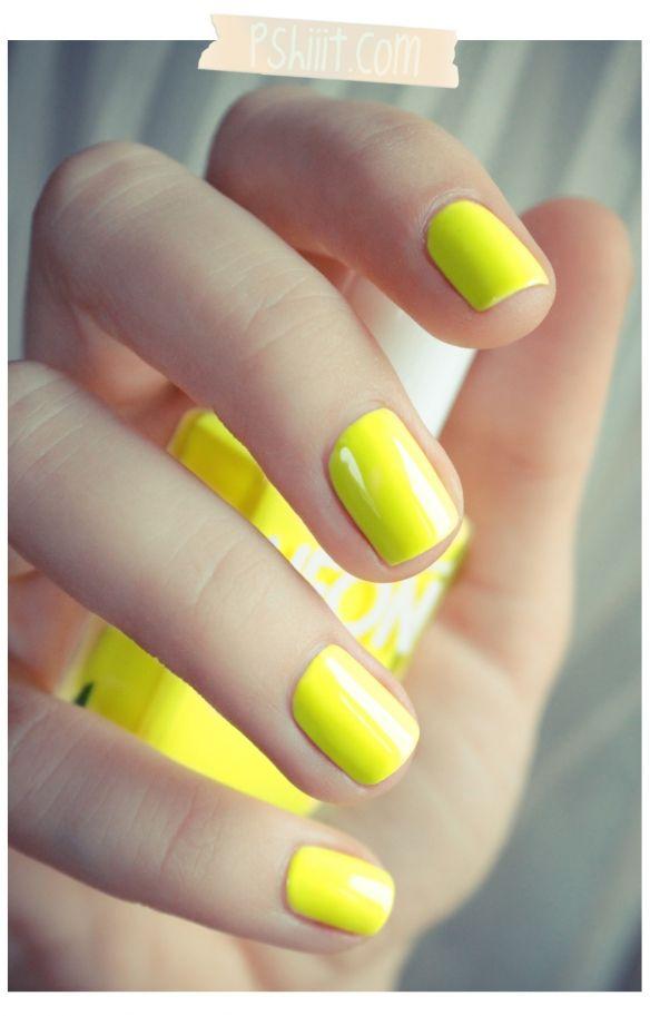 omgosh love this neon yellow | MANIS + PEDIS | Pinterest | Neon ...