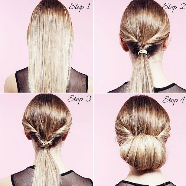 Simple Juda Hairstyle For Wedding: How To Do A Twisted Bun Up-do In 5 Easy Steps