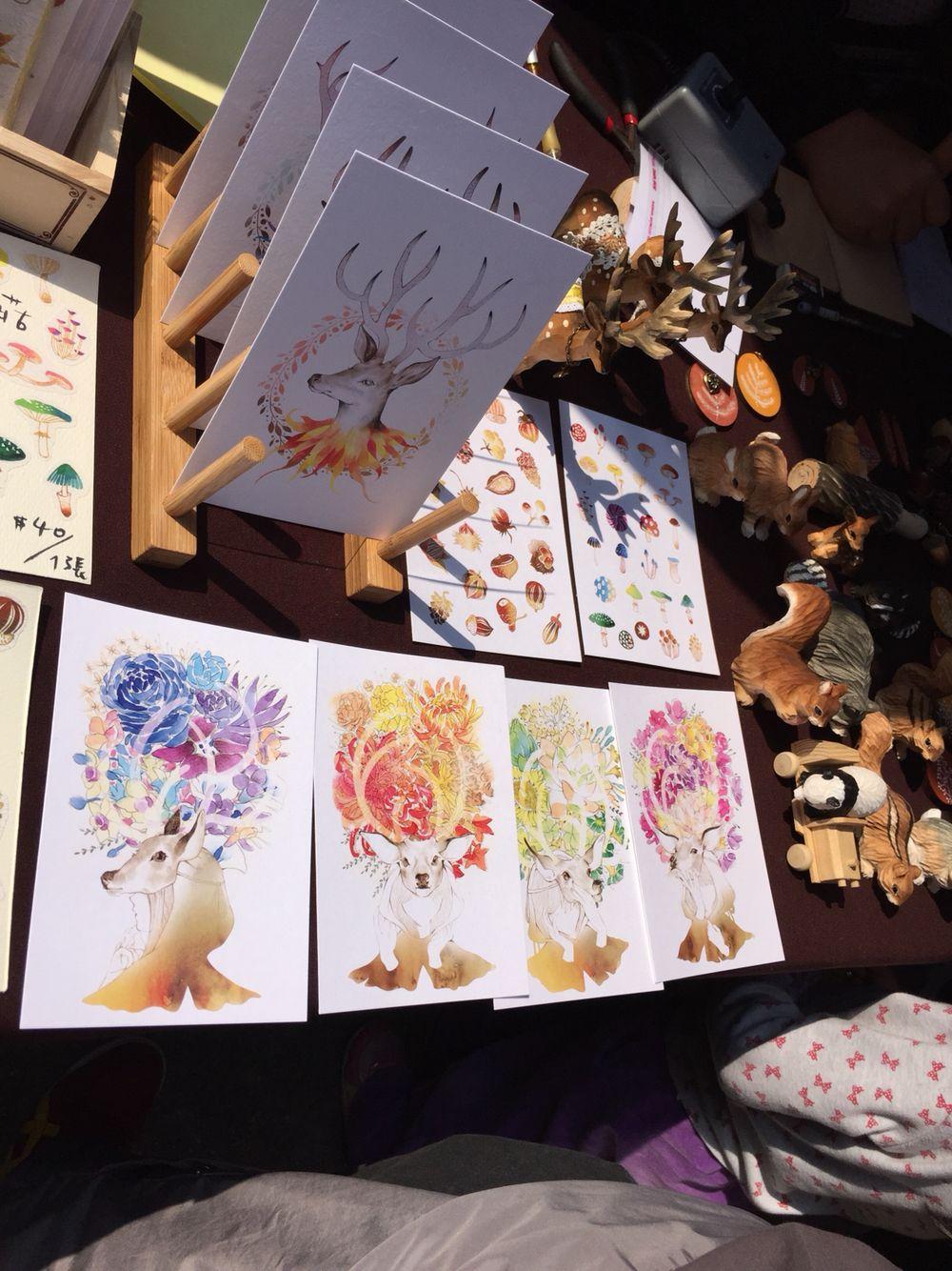 Watercolor cards up close (Taipei)