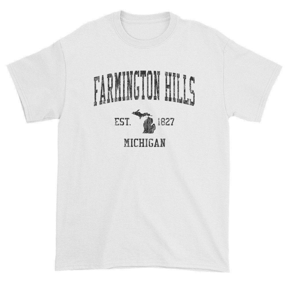 Vintage Farmington Hills Michigan Mi T Shirt Adult Black Print T Shirt Tee Shirts Bowling Green Kentucky