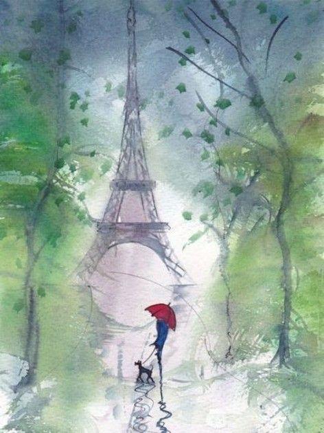 Paris Tour Eiffel Peinture Paris Paris Dessin Tour Eiffel