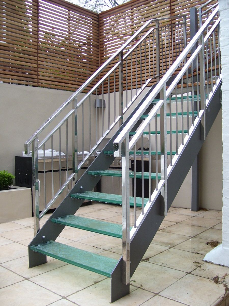 Prefab metal stairs classic but most sought for your home - Metal railings for stairs exterior ...