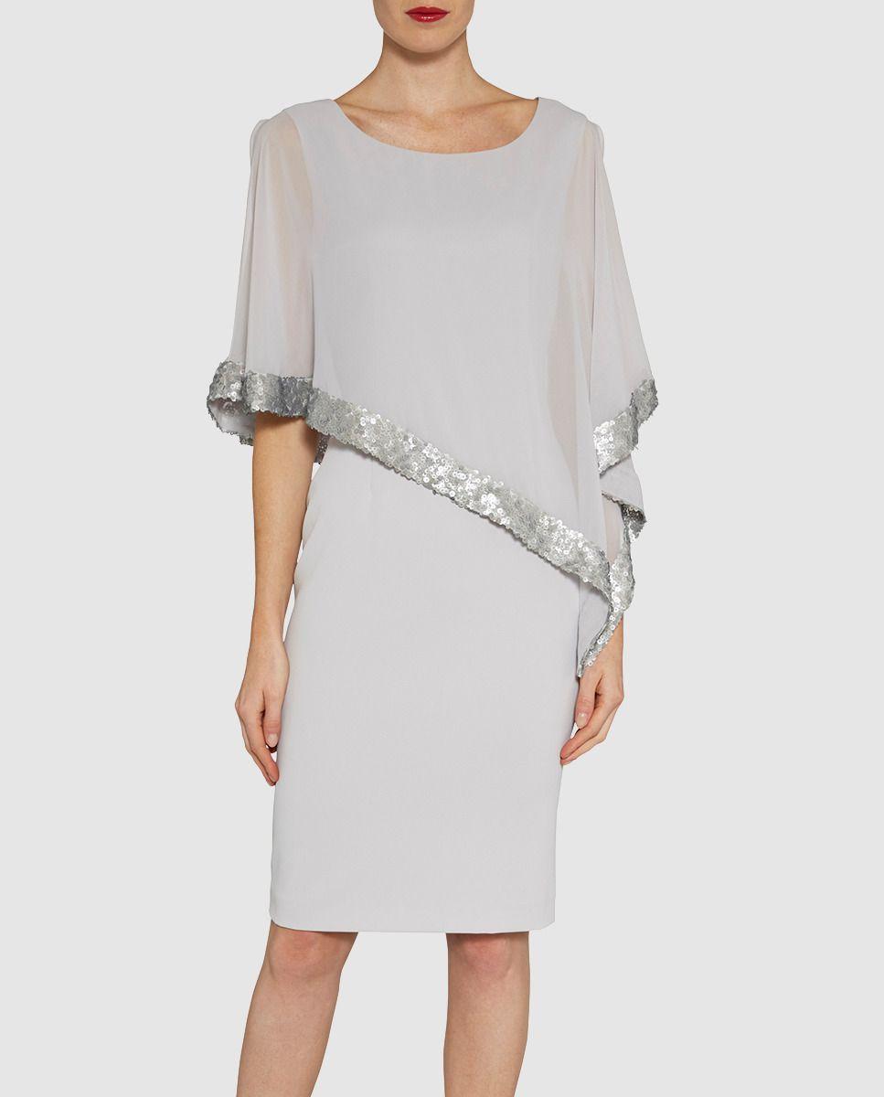 Vestido de mujer Gina Bacconi con cuerpo tipo capa 56151d9e668a