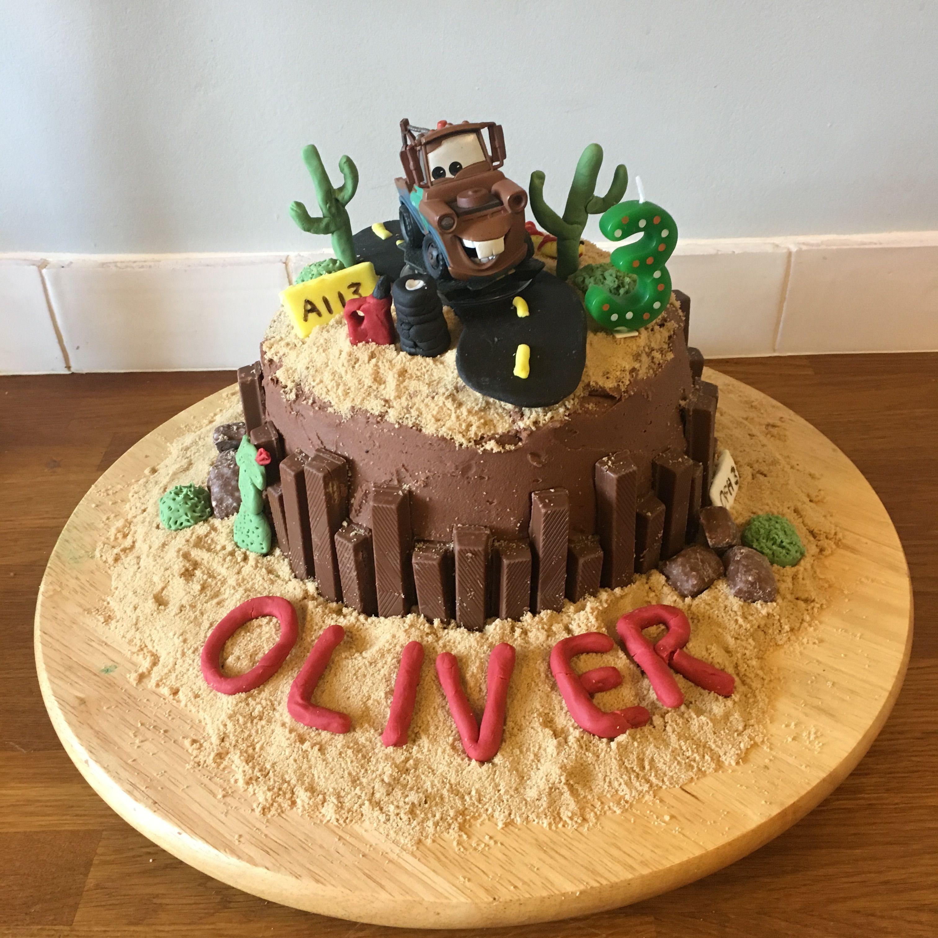 Pleasant Tow Mater Birthday Cake 3Rd Birthday For Oliver A Disney Cars Funny Birthday Cards Online Kookostrdamsfinfo