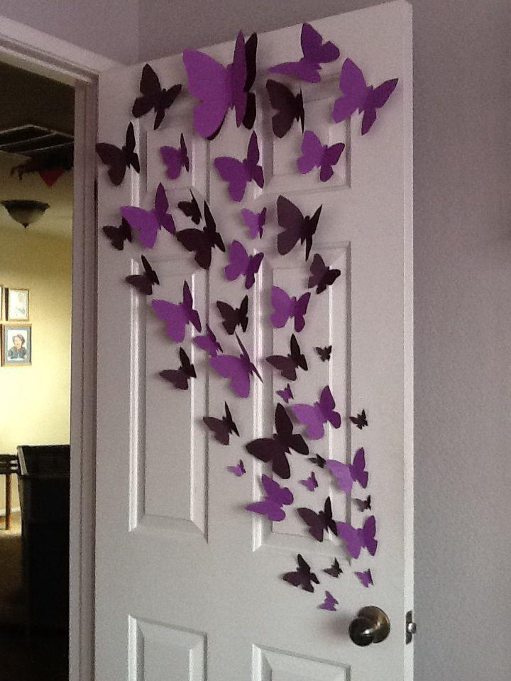 Photo of Dekorationen mit Schmetterlingen aus Papier – Dale Details – Selbermachen