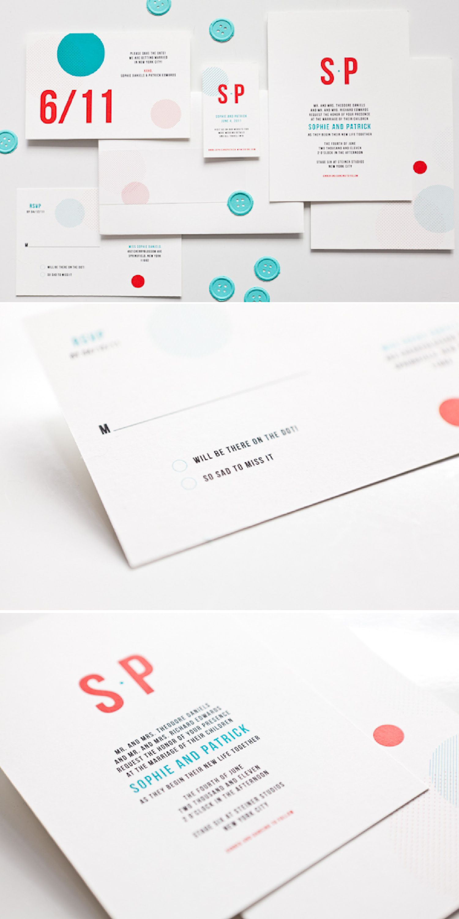 Graphic Dot Invitations