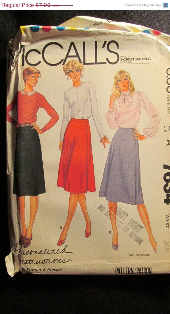 Sale Uncut 1980's McCall's Sewing Pattern 7634 by EarthToMarrs, $5.25
