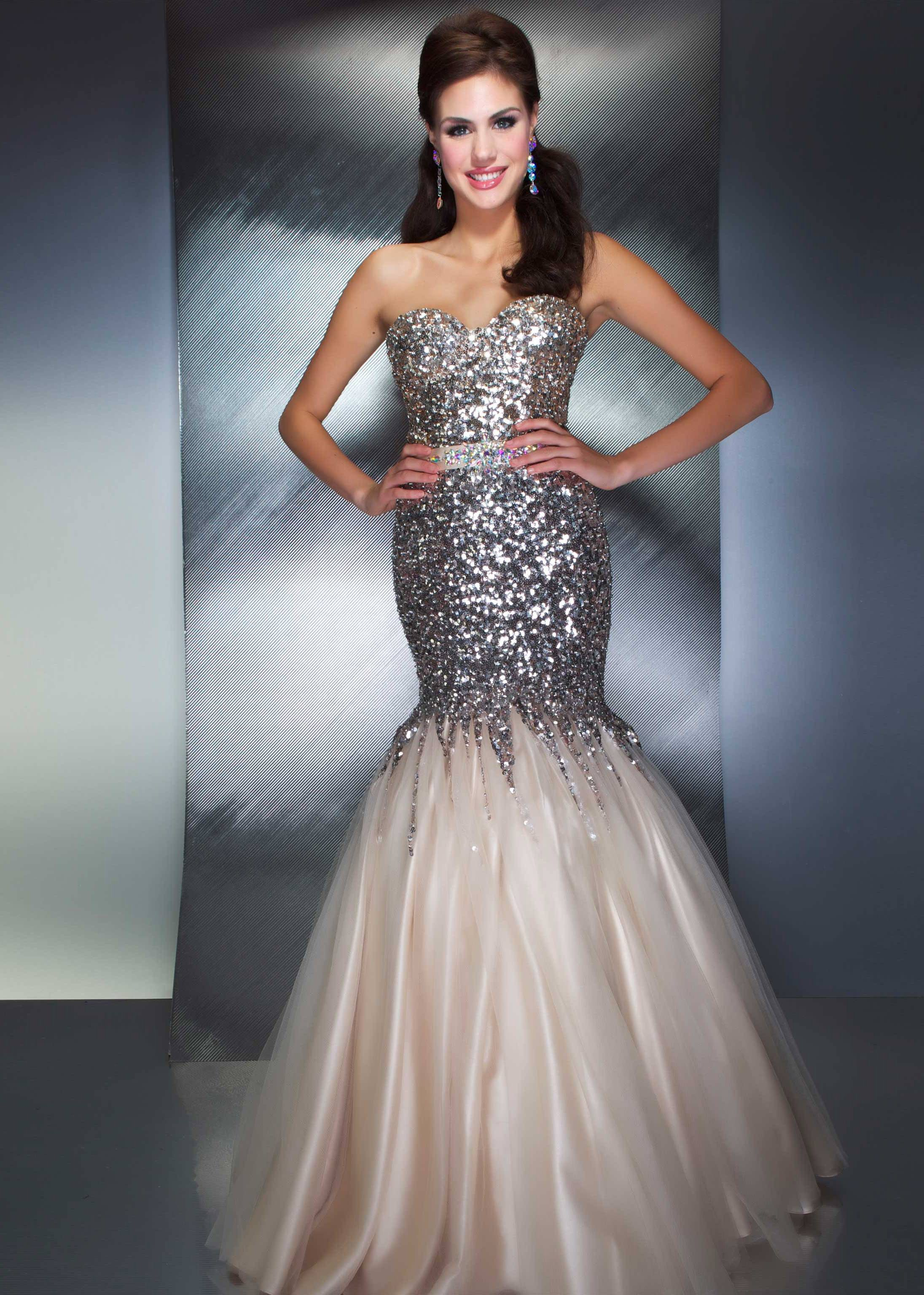 Buy now Mac Duggal 85142M nude sweetheart sequin mermaid prom dresses  available now at RissyRoos.com. 07f5442d04d9